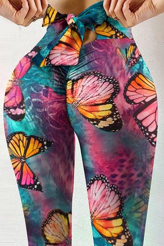 front_Alice Eleanore Tie Dye Butterfly Print Plus Leggings