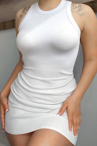 back_Eunice Glaving White Bodycon Dress