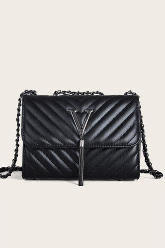 front_Doris Elsa Black Crossbody Bag