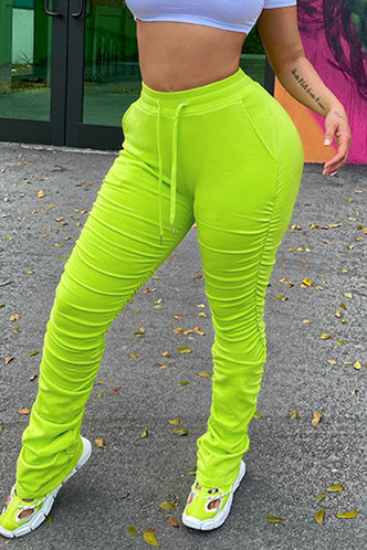 front_Erin Edith Lime Green Pants
