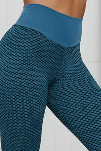 front_Hermosa Korjas Peacock Green Activewear Bottom
