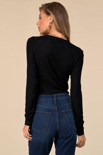 back_Everyday Basic Black Rib Knit Tee