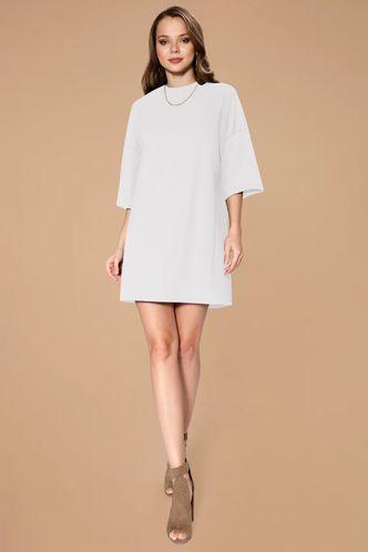 front_Liana White T shirt Dress