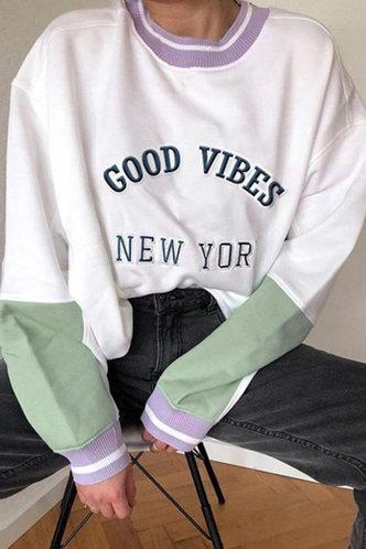 front_Blanch Eden White And Green Sweatshirt