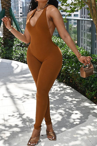 front_Tania Eunice Brown Jumpsuit