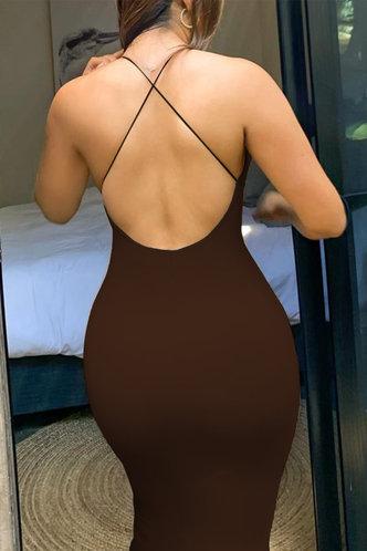 back_Lena Elvira Brown Cami Bodycon Dress