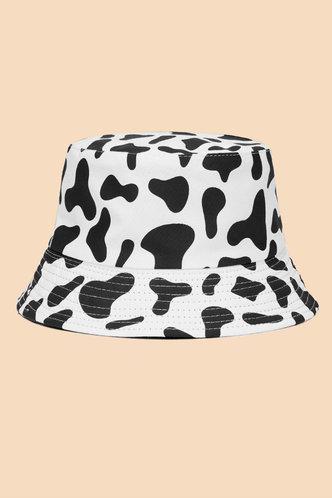 front_Jamie Eileen Cow Print Bucket Hat