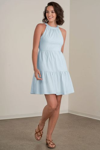 front_What You Want Sky Blue Mini Dress