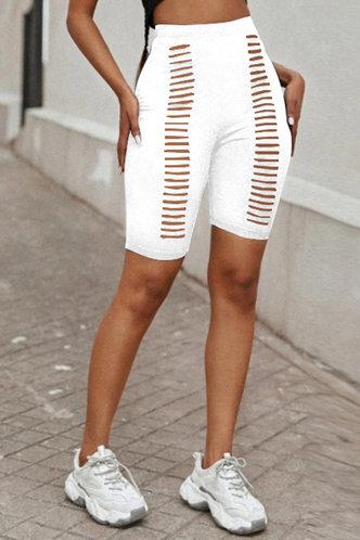 front_Chanel Elma White Biker Shorts