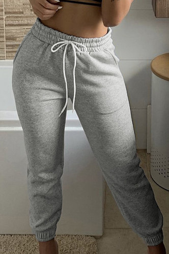front_Linda Eudora Light Grey Sweatpants