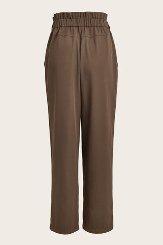 back_Beverly Eartha Brown Paperbag Pants