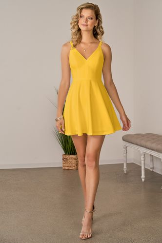 front_Psyche Yellow Mini Dress