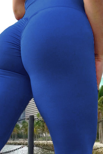 back_Cynthia Eileen Blue Activewear Bottom