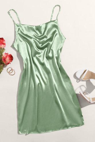 back_Emerald Light Green Slip Dress