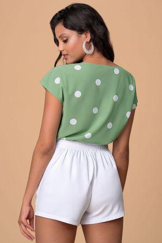 back_Memory Making Sage Green Floral Print Short Sleeve Top