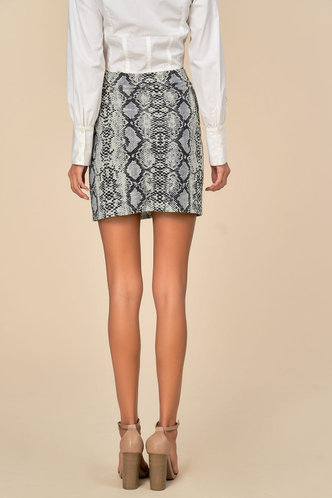 back_Temptress Snake Print Skirt