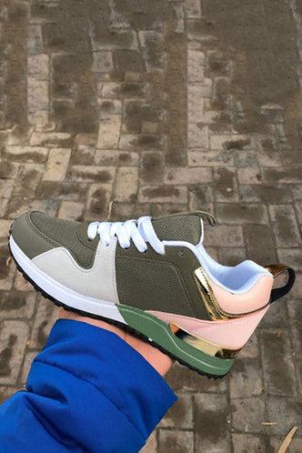 back_Annabella Eudora Army Green Sneakers