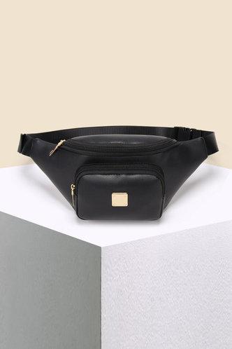 front_Tanya Enid Black Bum Bag