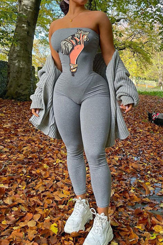 front_Amber Elizabeth Light Grey Jumpsuit