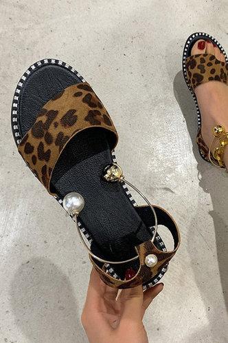 front_Cora Haska Leopard Print Slingback Sandals