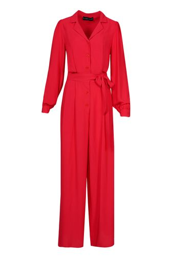 back_Suzanne Red Jumpsuit