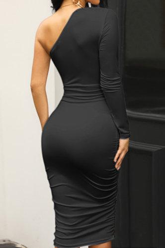 back_Plain  Black Maxi Dresses