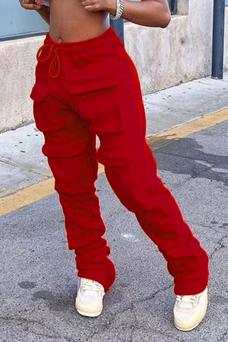 front_Fiona Elsie Red Sweatpants