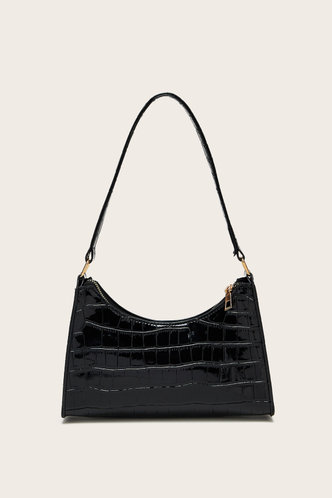 front_Claire Eden Black Shoulder Bag