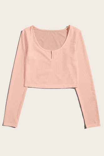 back_Elainea Pink Ribbed Top