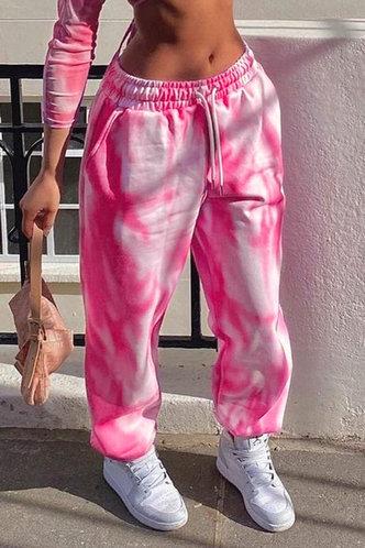 front_Carol Eve Pink Tie Dye Pants