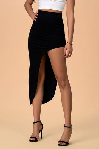 front_Endless Elegance Black Skirt