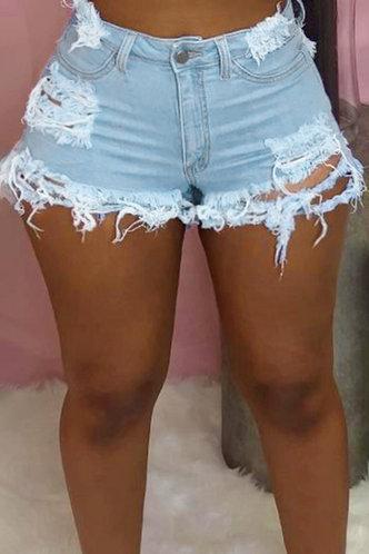 front_Katherine Erica Wash Light Blue Denim Shorts