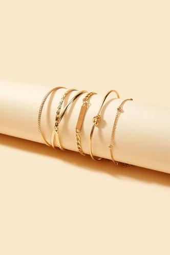 back_Maisie Elizabeth Gold Bracelet 5pcs