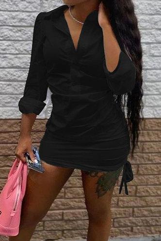 back_Carol Eudora Black Shirt Dress