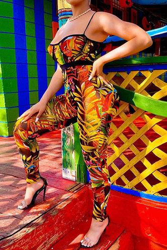 back_Eleanora Elizabeth Yellow Leaf Print Jumpsuit