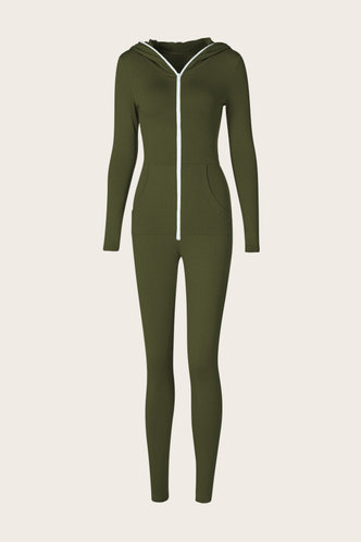 back_Genevieve Eileen Army Green Jumpsuit