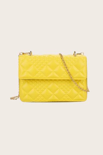 front_Emily Geralan Yellow Crossbody Bag