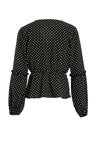 back_Alberta Eden Black And White Polka Dots Blouse