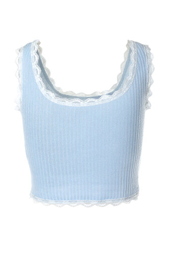back_In The Party Pastel Blue Tank Top