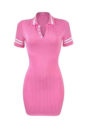 back_Debby Kradan Pink Short Sleeve Dress