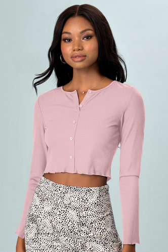 front_Reasons Blush Long Sleeve Top
