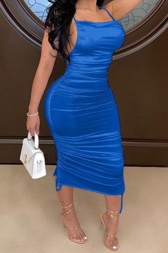 front_Georgia Ella Royal Blue Drawstring Side Open Back Dress