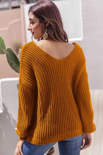back_Ona Mustard Yellow Sweater