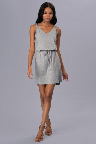 front_Light My Fire Grey Mini Dress