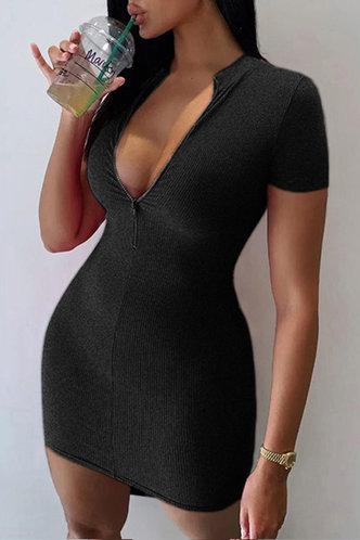 back_Ally Edwina Black Zig Up Dress