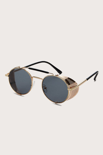 front_Sue Elsa Grey Metal Frame Sunglasses