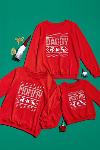 front_Mommy Red Sweatshirt