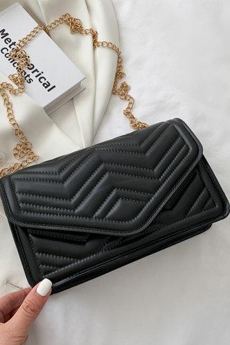 front_Maud Esther Black Crossbody Bag