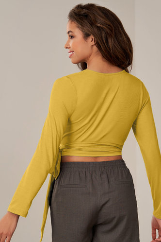 back_On The Line {Color} Long Sleeve Top
