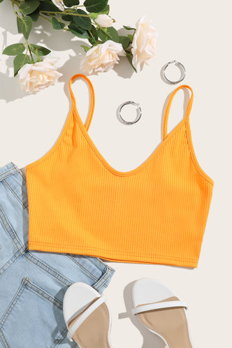 back_Alexandra Ella Orange Crop Cami Top